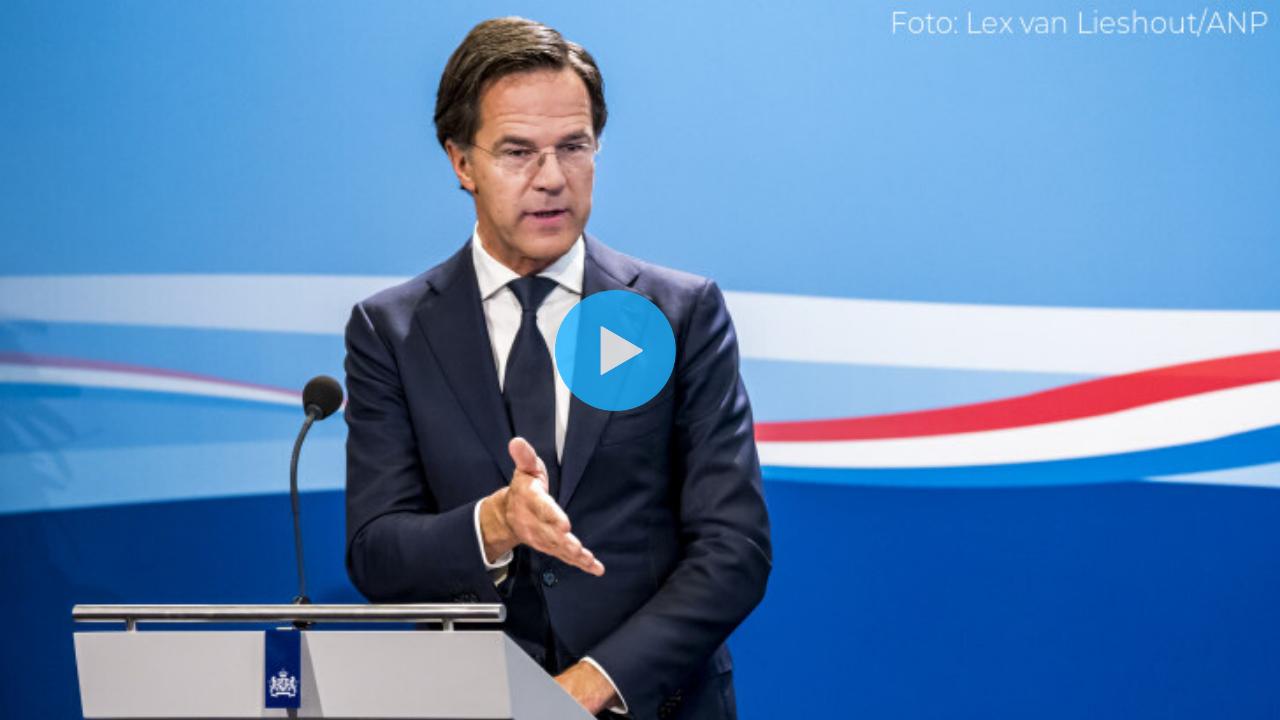 Kijk LIVE Naar Persconferentie Mark Rutte Over Vakanties